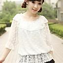 Halenka / košile Sweet Lolita Lolita Cosplay Lolita šaty Bílá Jednobarevné Polodlouhé rukávy Lolita Šaty Pro Dámské Krajka / Polyester