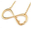 Canlyn Dámská móda Gold Cut Out 8 Pattern náhrdelník