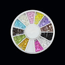12-Color Transparent Bow Nail Art Arcylic Dekoracije