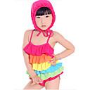 女の子の 虹色 スパンデックス / ライクラ,水着 夏