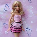 プリンセスライン ドレス ために バービー人形 ピンク / フクシア ドレス のために 女の子の 人形玩具