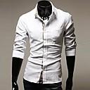 U2M2 Moda White Rever Vrat Buckle Shirt