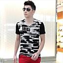 男性用 プリント カジュアル Tシャツ,半袖 コットン,ブラック