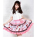 Pink Prilično Lolita jagode sladoledu Princess Kawaii Suknja Lovely Cosplay