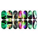12ks Barevné Aurora A Elk Světelné Nail Art Samolepky