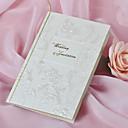 """Non-personalizaton Side Fold Vjenčanje Pozivnice Pozivnice-50 Piece / Set Cvjetni Style Pearl papira 7 1/2 """"x 6 1/4"""" (19 * 13.5cm) Cvijeće"""