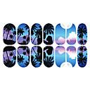 12ks Romantické Modrá Moonlight Světelné Nail Art Samolepky