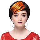 visoke kvalitete sintetička naranče ravne kose šiške