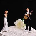 Figurky na svatební dort Nepřizpůsobeno Klasický pár Pryskyřice Svatba Bílá / Černá Květinový motiv / Klasický motiv Dárková krabička