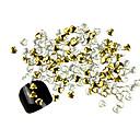 300ks 3D Golden Love-srdce Alloy Nail Art Zlaté a stříbrné ozdoby