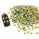 100PCS 3x3mmのラウンドパンクゴールデンリベットアートの装飾ネイル