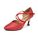 Ženske - Plesne cipele - Moderni plesovi - Satin - Stiletto Heel - crven / Drugo