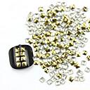 300ks 3D Golden Square Alloy Nail Art Zlaté a stříbrné ozdoby