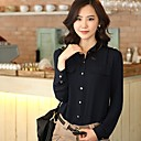 Org Dámské korejská verze límec Chiffon Shirt