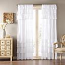 country jeden panel pevný bílý obývací pokoj polyester panelové záclony závěsy