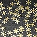50PCS Snow design Gold Metal Nail Art Dekorace