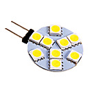 3W G4 LED2本ピン電球 9 SMD 5050 130-180 lm クールホワイト DC 12 V