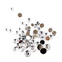 500pcs mixs veličina bijela akrilna dijamant nail art ukrasa