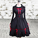 ワンピース/ドレス ゴスロリータ ビンテージ コスプレ ロリータドレス ブラック ビンテージ 長袖 ミドル丈 ドレス のために 女性 コットン