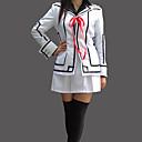 Inspirovaný Vampire Knight Luca Souen Anime Cosplay kostýmy Cosplay šaty / Školní uniformy Patchwork Biały Dlouhé rukávyKabát / Tričko /