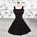 ワンピース/ドレス クラシック/伝統的なロリータ ロリータ コスプレ ロリータドレス ブラック ゼブラプリント ノースリーブ ミドル丈 ドレス のために 女性 コットン