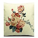 Država cvijeće u cvatu pamuk / lan ukrasne jastuk pokriti