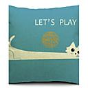 Država smiješno mačka pamuka / lana dekorativni jastuk pokriti