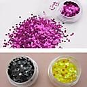 12 boja glitter kružna šljokice nail art ukrasa (3mm, slučajni boja)