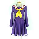 Inspirirana Ne igra nema života Shiro Anime Cosplay nošnje Cosplay Suits / School Uniforms Jednobojni Ljubičasta Dugi rukavKaput /