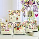 set od 4 lijep prizor pamuka / lana dekorativni jastuk naslovnici