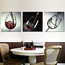 Reprodukce na plátně umění zátiší červené víno sklo sada 3