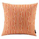 オレンジ色のスイカ連動コットン/リネン装飾枕カバー