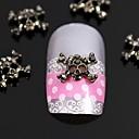 10pcs modni bižuterija prijelaz lubanja 3d legure nail art ukras