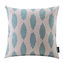 ブルーティアドロップ綿/リネン装飾枕カバー
