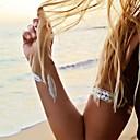 1pcs list uzorak narukvicu nakit inspiriran metalik zlatne i srebrne tattoo naljepnice privremene tetovaže