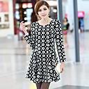 Women'S Dot Printing Slim Dress