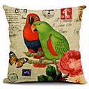 A Couple of Parrots Cotton/Linen Decorative Pillow Cover