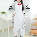Kigurumi Pyžama Kočka / Chi Sweet Home / Cheese Cat Leotard/Kostýmový overal Festival/Svátek Animal Sleepwear Halloween Bílá / Šedá