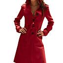 PINKLADY stylový kašmírový dlouhý kabát