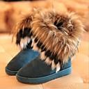 Ženske cipele - Čizme - Ležerne prilike - Brušena koža - Ravna potpetica - Čizme za snijeg - Crna / Plava / Žuta