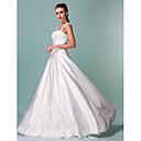 Lanting Bride® Corte en A Tallas pequeñas / Tallas Grandes Vestido de Boda - Clásico y Atemporal Inspiración Vintage Hasta el Suelo