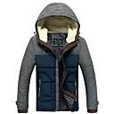 男性のステッチ色の綿のコート