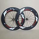 700C U Shape Carbon Wheelset for Road Bike 88mm Clincher