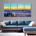Reprodukce na plátně umění krásný přístav krajinomalba sada 4