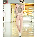 ofei europske mode uzročni sportske provjerite cvjetni print hoodie majicu odijelo