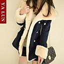 Dlouhé-Velké velikosti-Dlouhý rukáv-Bunda / Kabát