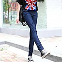 ženske tanki pamuk cure sa stilom visoki struk traper mršav traperice