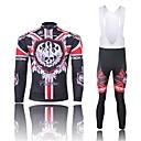 WEST BICIKLIZAM® Biciklistička majica s tregericama Muškarci Dugi rukav BiciklProzračnost / Quick dry / Anatomski dizajn / Pad 3D /