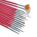 15ks nail art design štětky malířské pero