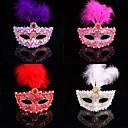 modni Boja perja čipka karnevalska maska